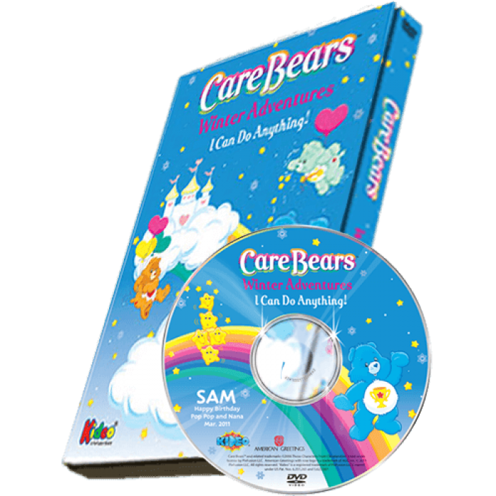 care bears winter adventures photo personalized children 39 s dvd. Black Bedroom Furniture Sets. Home Design Ideas