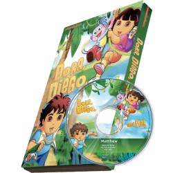 Dora, Diego and Me Kid's Photo Personalized DVD