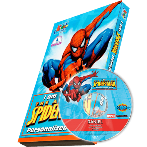 Spider-man Kid's Photo Personalized DVD