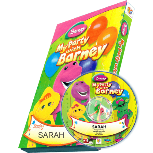 My Party with Barney Photo Personalized Children's DVD