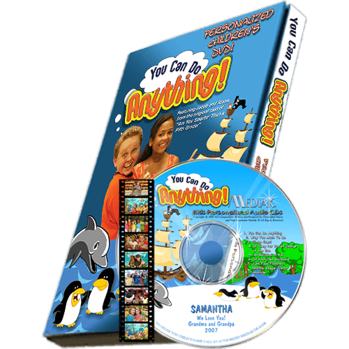 You Can Do Anything Personalized Kid's DVD
