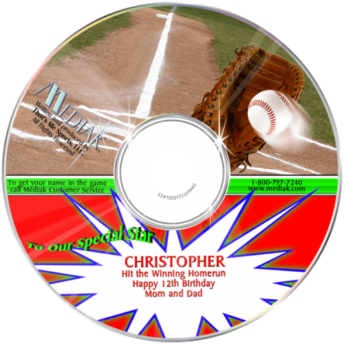 Personalized Baseball Music CD for Kids