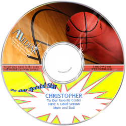 Personalized Basketball Music CD for Kids