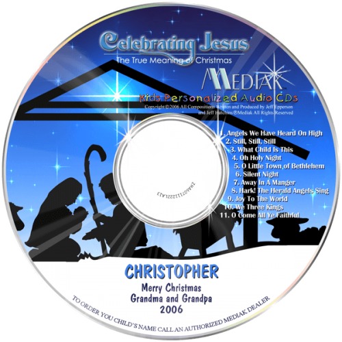 Personalized Celebrating Jesus Music CD