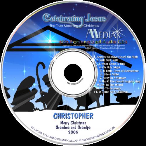 Personalized Celebrating Jesus Music CD