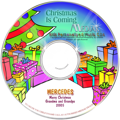 Personalized Christmas Is Coming Music CD