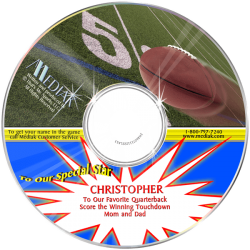 Personalized Football Music CD for Kids