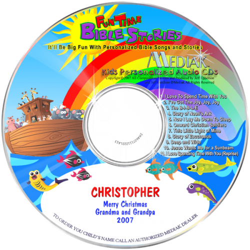 Personalized Fun Time Bible Stories Music CD