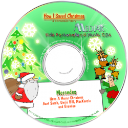 How I Saved Christmas Personalized Children's Music CD