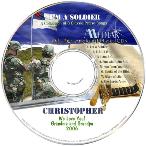 I'm a Soldier Personalized Children's Music CD