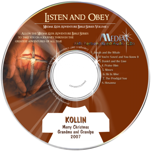 Listen and Obey Personalized Music CD