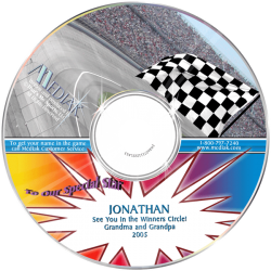 NASCAR Racing Personalized Children's Music CD