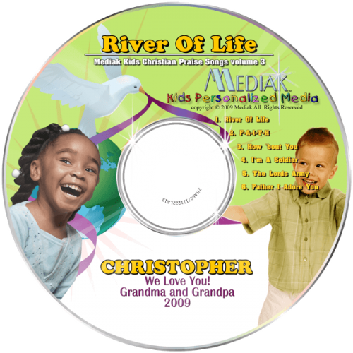 River of Life Personalized Children's Music CD