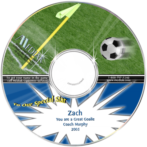 Soccer Personalized Children's Music CD