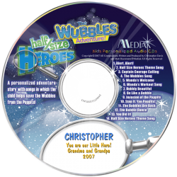 The Wubbles Adventure Personalized Children's Music CD