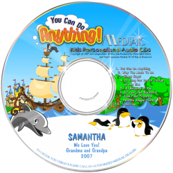 You Can Do Anything Personalized Children's Music CD
