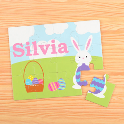 Bunny Basket Personalized Kids Puzzle
