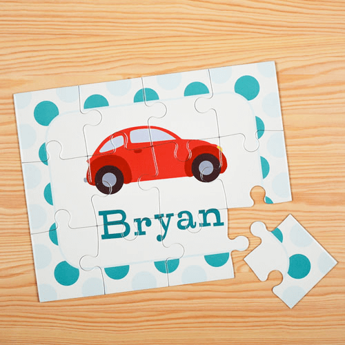 Car Personalized Kids Jigsaw Puzzle
