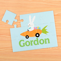 Carrot Car Personalized Kids Puzzle