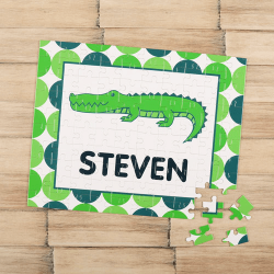 Crocodile Personalized Children's Jigsaw Puzzle