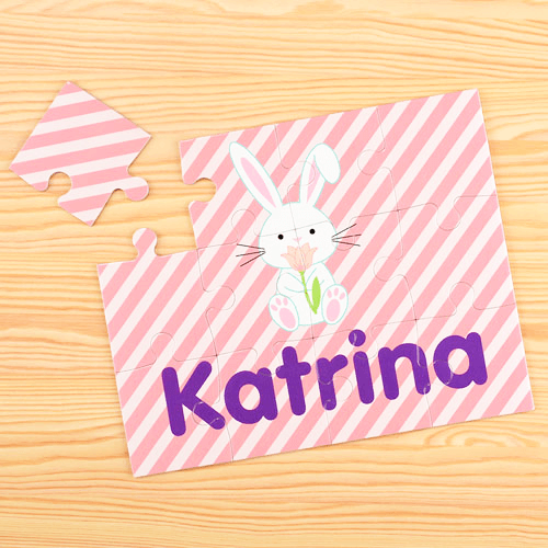 Easter Bunny Personalized Children's Jigsaw Puzzle