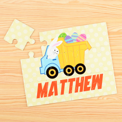 Easter Truck Personalized Children's Jigsaw Puzzle