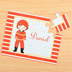 Fireman Personalized Kids Puzzle