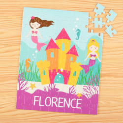 Mermaid Personalized Children's Jigsaw Puzzle