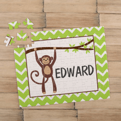 Monkey Personalized Children's Jigsaw Puzzle