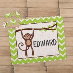 Monkey Personalized Children's Jigsaw Puzzle