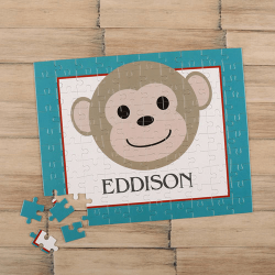 Monkey Boy Personalized Children's Jigsaw Puzzle