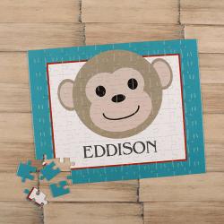Monkey Boy Personalized Children's Jigsaw Puzzle