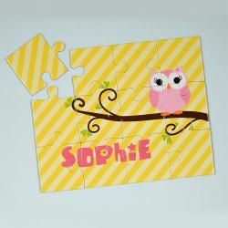 Lemon Owl Personalized Kids Jigsaw Puzzle