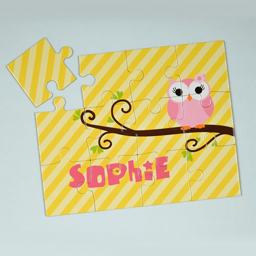 Lemon Owl Personalized Kids Jigsaw Puzzle