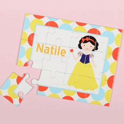 Princess Brunette Personalized Kid's Puzzle