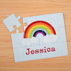 Rainbow Personalized Kids Jigsaw Puzzle