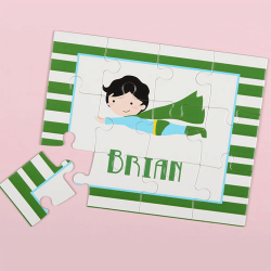Superboy Green Personalized Kids Puzzle