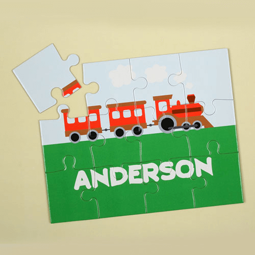 Train Personalized Kids Jigsaw Puzzle
