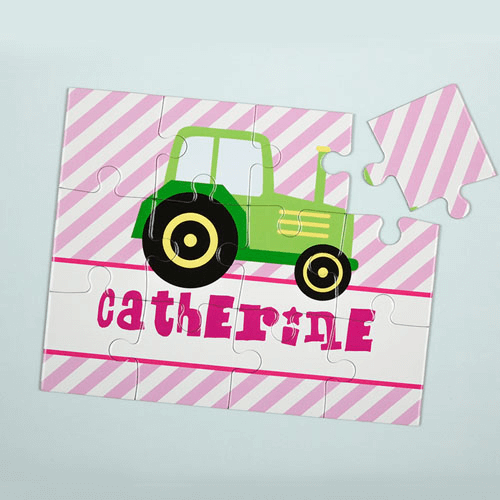 Lime Truck Personalized Kids Jigsaw Puzzle