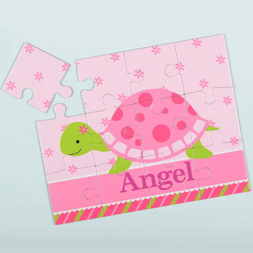 Flower Turtle Personalized Kid's Puzzle