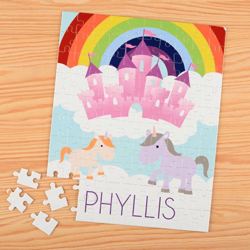 Unicorn Personalized Kids Puzzle
