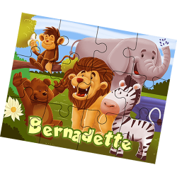 Zoo Animals Personalized Children's Jigsaw Puzzle