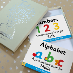 Alphabet & Numbers Personalized Board Books for Toddlers