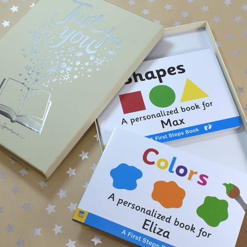 Shapes & Colors Personalized Board Books for Toddlers