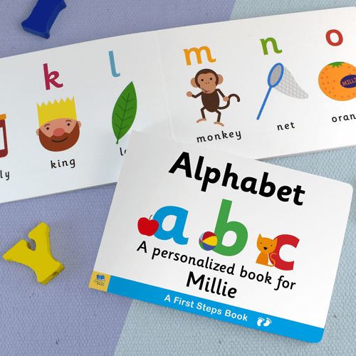 First Steps Alphabet Personalized Board Book for Toddlers