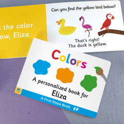 First Steps Colors Personalized Board Book for Toddlers
