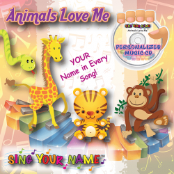 Personalized Animals Love Me Music CD