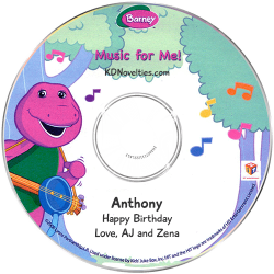 Personalized Barney Music for Me CD