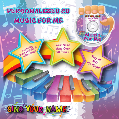 Personalized Music for Me CD for Kids